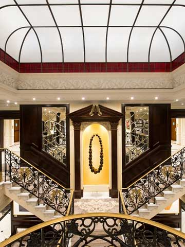 The Grand Staircase aboard the Azamara Pursuit